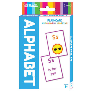 Alphabet Preschool Flash Cards (36/Pack) - Bazicstore
