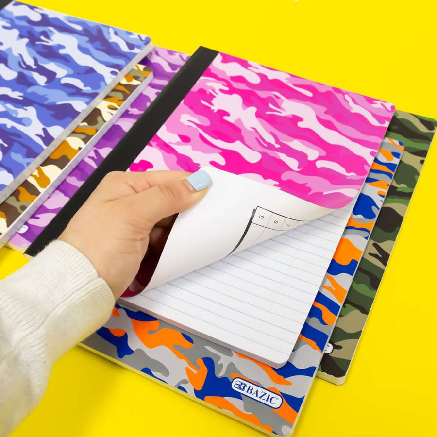 C/R 100 Ct. Camouflage Composition Book - Bazicstore