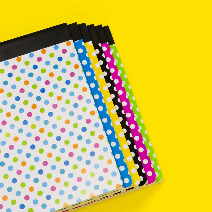 C/R 100 Ct. Polka Dot Composition Book - Bazicstore