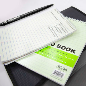 "70 Ct. 6"" X 9"" Green Tint Gregg Ruled Steno Book"