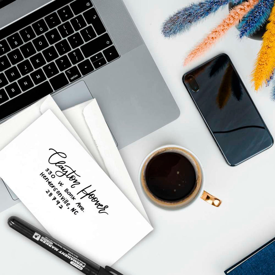 #6 3/4 Self-Seal Security Envelope (80/Pack) - Bazicstore