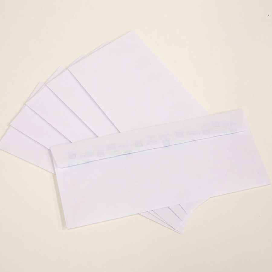 #10 Self-Seal White Envelope (50/Pack) - Bazicstore