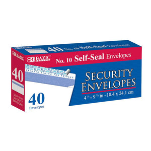 #10 Self-Seal Security Envelope (40/Pack) - Bazicstore