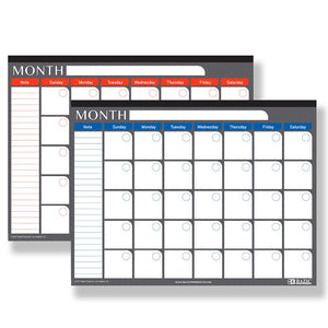 "17"" X 22"" Undated 12-Month Desk Pad Calendar"