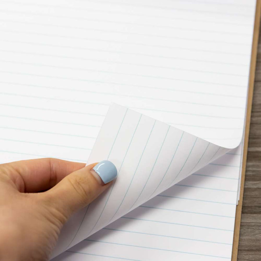 "50 Ct. 8.5"" X 11.75"" White Perforated Writing Pad - Bazicstore"