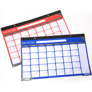 "11"" X 17"" Undated 12-Month Desk Pad Calendar"