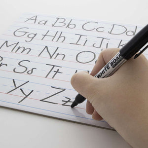 "9"" X 12"" Double Sided Dry Erase Learning Board w/ Marker"