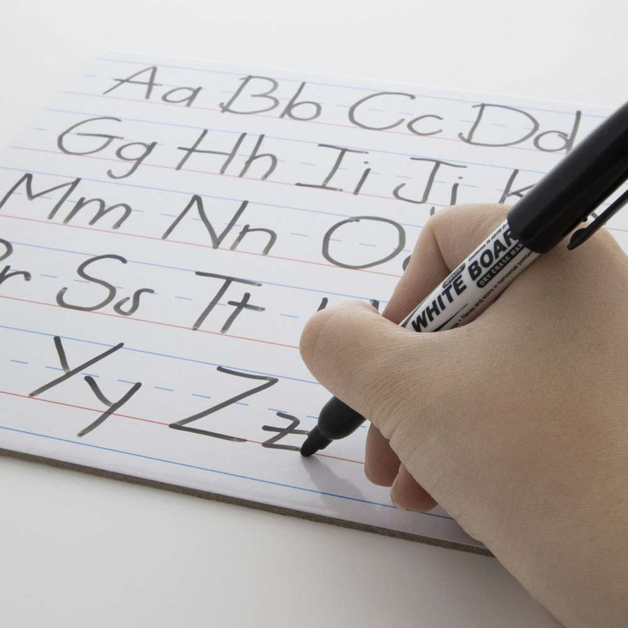 "9"" X 12"" Double Sided Dry Erase Learning Board w/ Marker - Bazicstore"