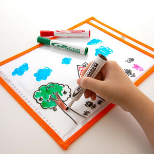 Reusable Dry Erase Pockets - Bazicstore