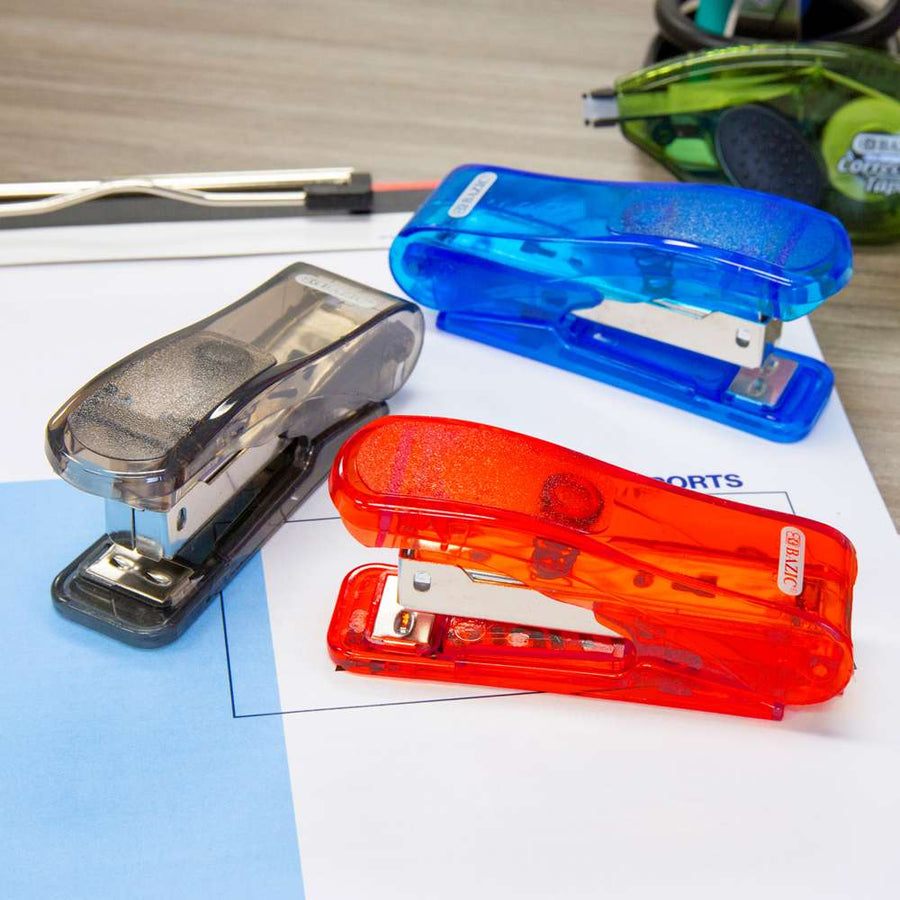 Transparent Standard (26/6) Stapler w/ 500 Ct. Staples - Bazicstore