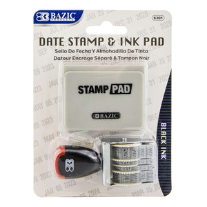 Date Stamp and Ink Pad (Black Ink) - Bazicstore
