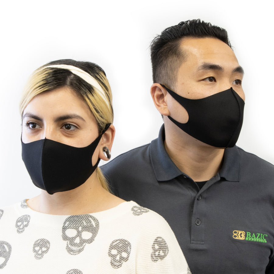 Black Protective Stretch Fabric Reusable & Washable Face Mask - FREE SHIPPING