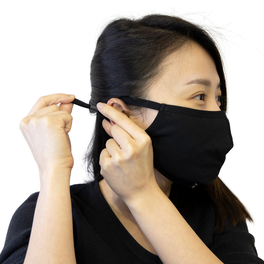 3Ply 3D Cotton Face Mask w/ Adjustable Ear loop - Bazicstore