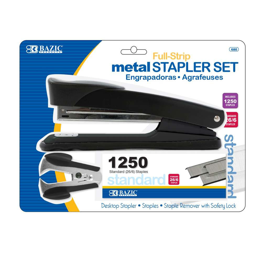 Metal Full Strip Stapler Set - Bazicstore