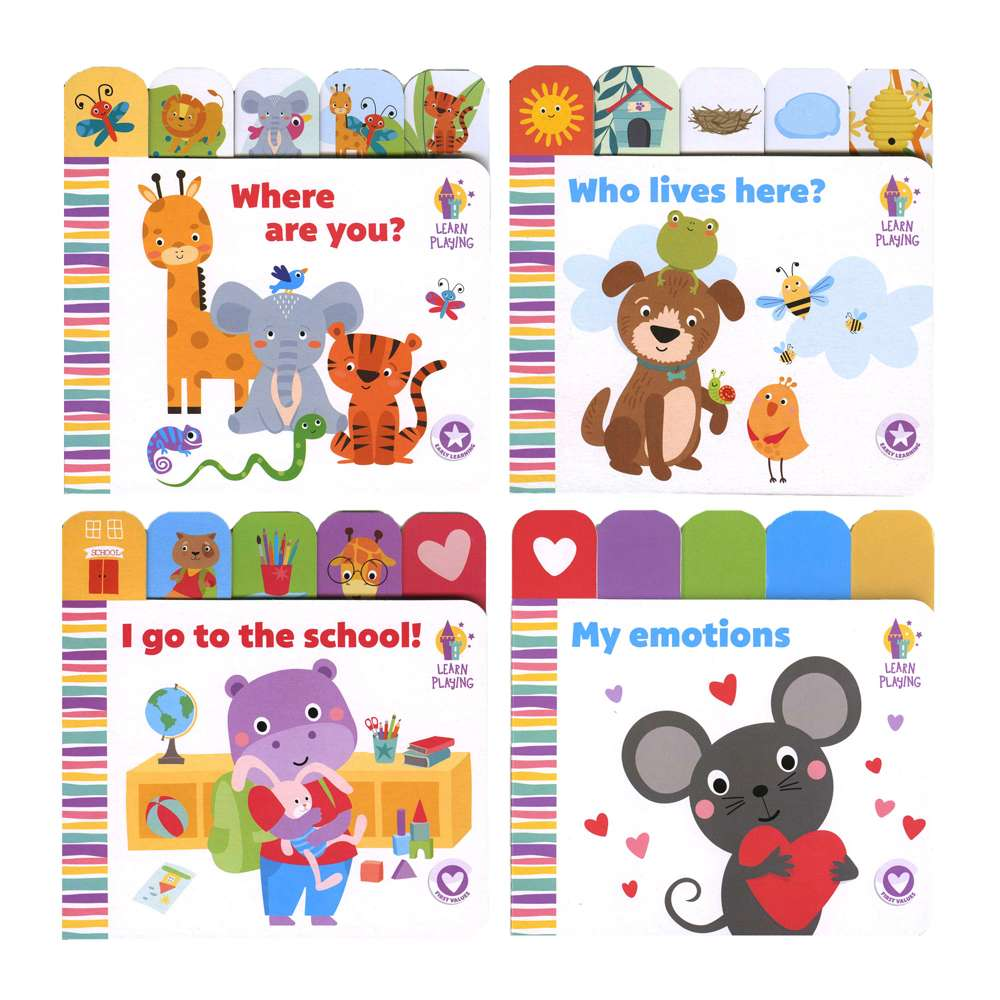 "Learn & Play Board Book 6"" x 6"""