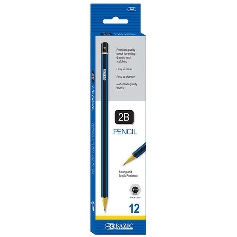 BAZIC #2B Premium Wood Pencil (12/Pack)