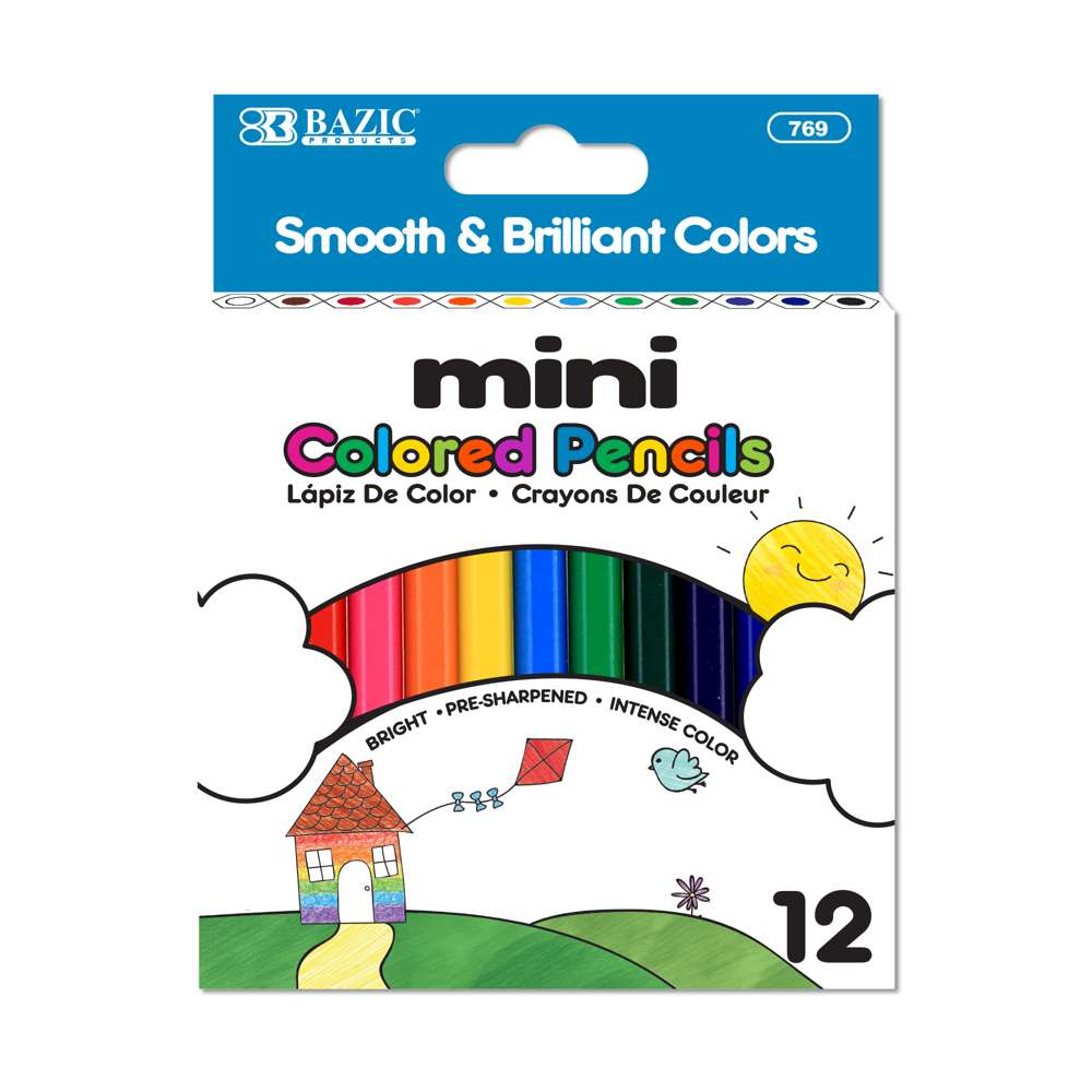 12 Mini Color Pencil
