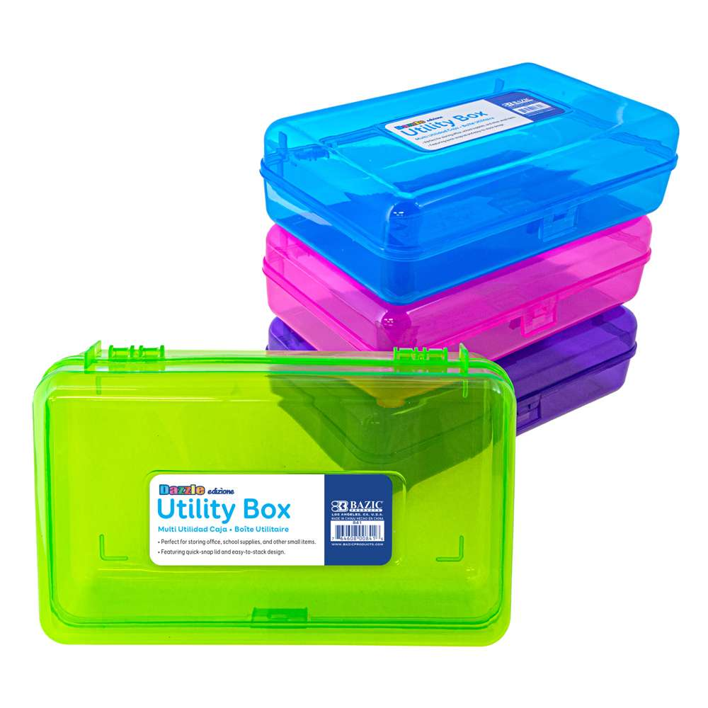 BAZIC Bright Color Multipurpose Utility Box - Bazicstore