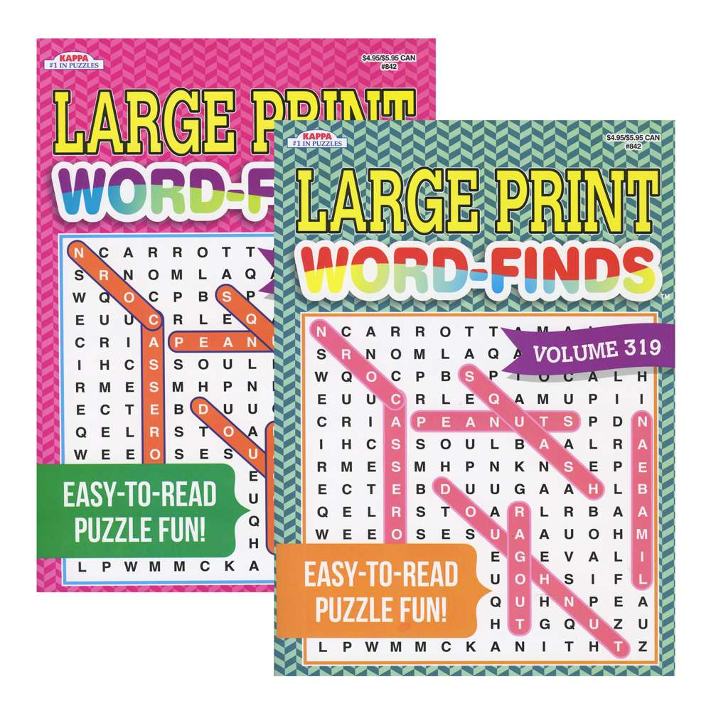 KAPPA Large Print Word Finds