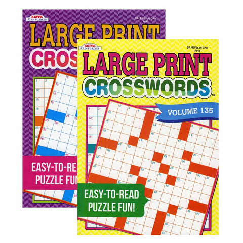 #84300 KAPPA Large Print Crosswords