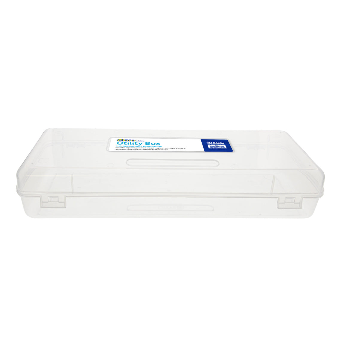 Clear Multipurpose Ruler Length Utility Box - Bazicstore