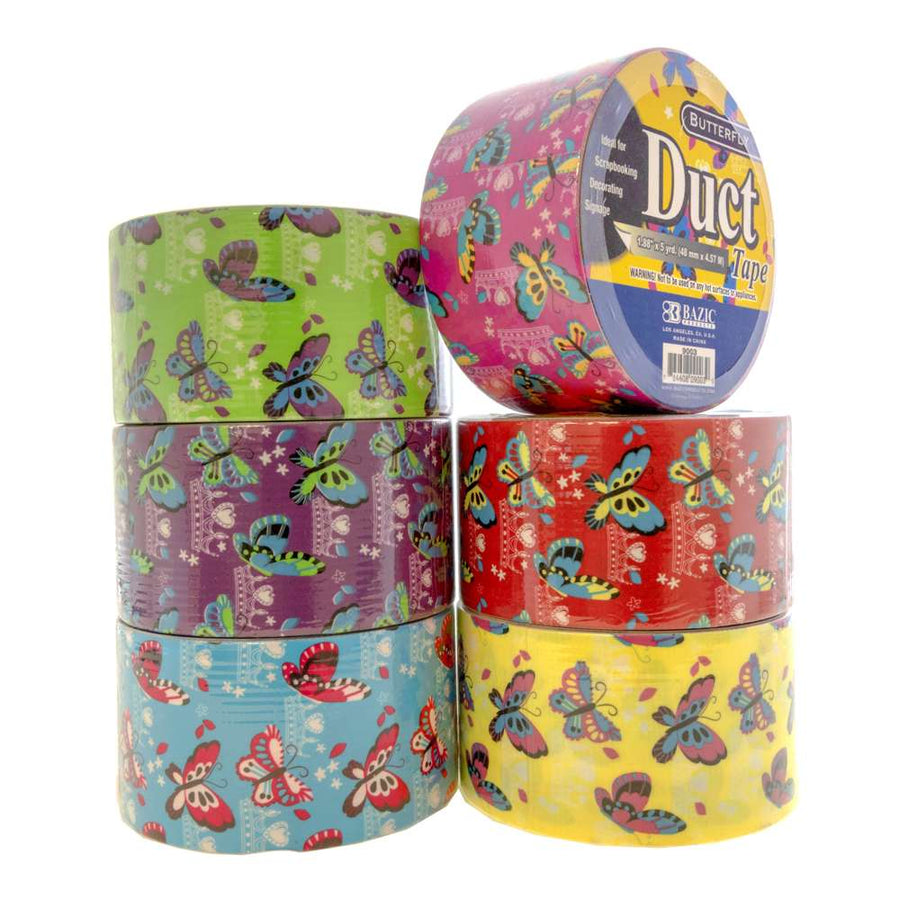 "1.88"" X 5 Yards Butterfly Series Duct Tape - Bazicstore"