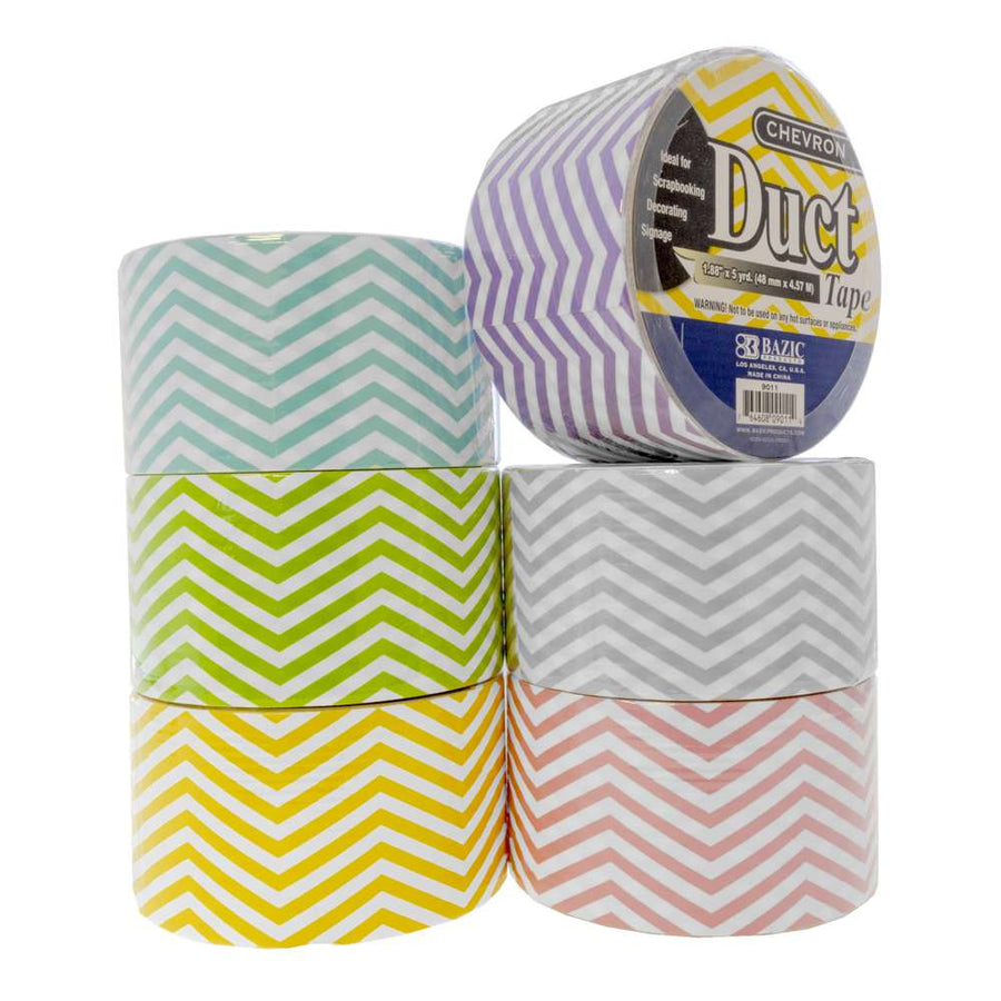 "1.88"" X 5 Yards Chevron Series Duct Tape - Bazicstore"