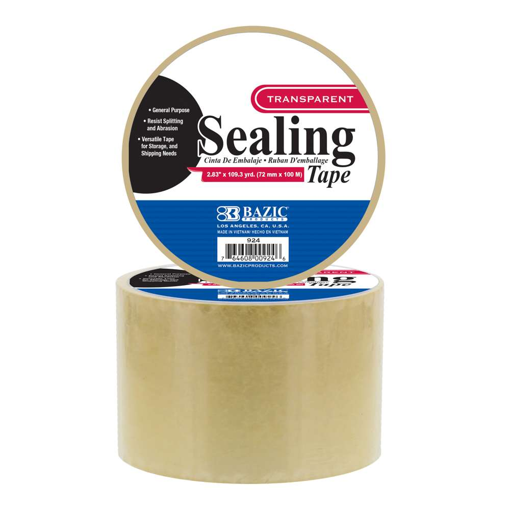 "BAZIC 2.83"" X 109.3 Yard Clear Packing Tape"