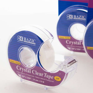 "3/4"" X 1296"" Crystal Clear Tape w/ Dispenser"