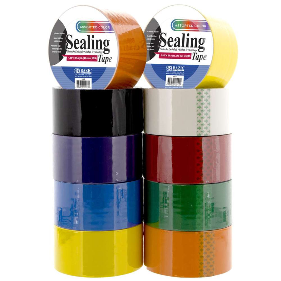 "1.88"" X 54.6 Yards Color Packing Tape - Bazicstore"