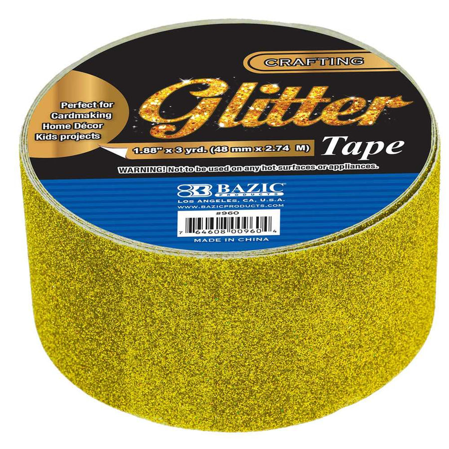 "1.88"" X 3 Yards Glitter Tape - Bazicstore"