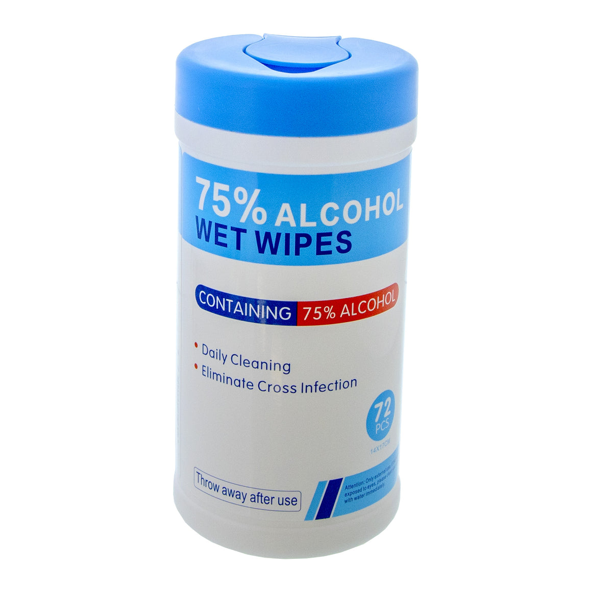 75% Alcohol Sanitizing Wipes (72/Pack)
