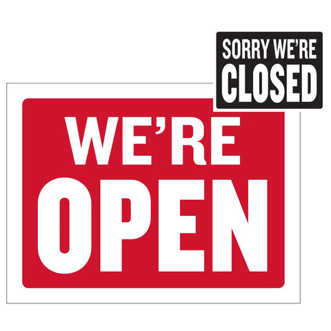 "12"" X 16"" Open Sign w/ Closed Sign on Back"