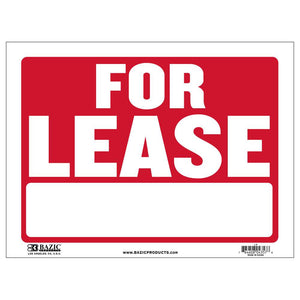 "12"" X 16"" For Lease Sign - Bazicstore"