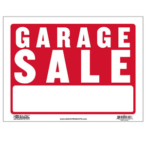 "9"" X 12"" Garage Sale Sign - Bazicstore"