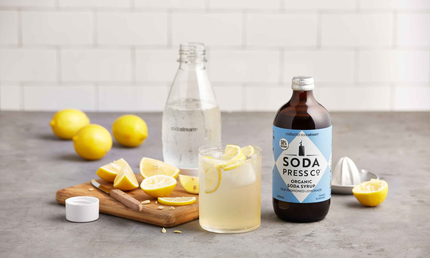 Organic - Old Fashioned Lemonade (soda & mixer syrup)