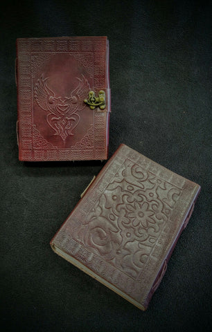 Large Double Dragon Leather Book