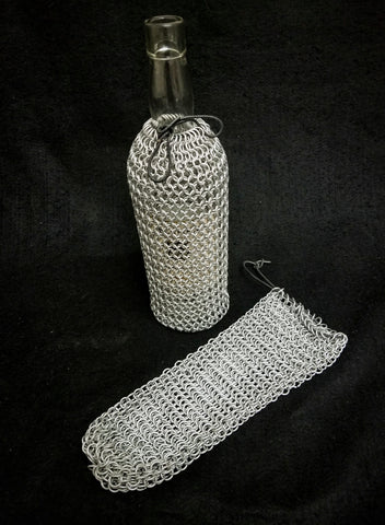 Chainmail Wine Bottle Holder