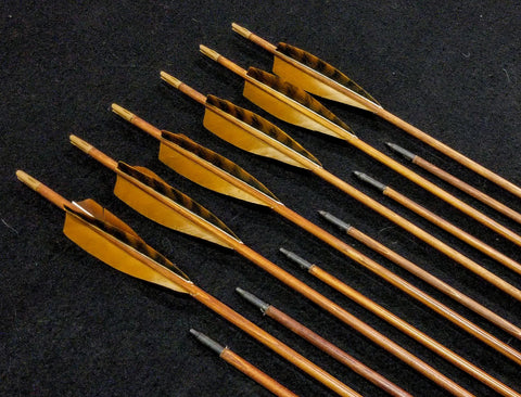 Cedar Target Point Arrows - Brown - made to order
