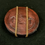 Custom -  Viking Themed Leather Coasters - Set of 3