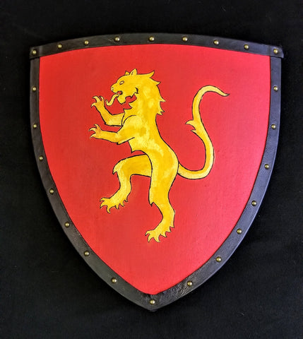 Custom - Painted Heater Shield with Rampant Lion