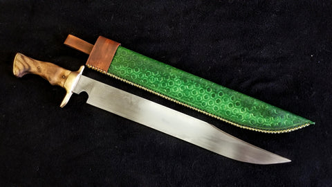 Custom - Bowie Knife with Brass Guard - Large