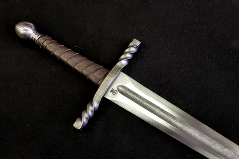 BKS Arming Sword with Twisted Guard (Blunt)