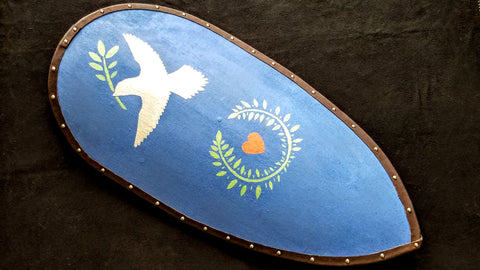 Custom - Norman Kite Shield - Dove and Leaves
