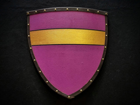 Painted - Heater Shield (Small) - Purple & Gold - Fess