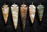 Arrowhead - Flint Arrowhead Large - Wrapped Pendant