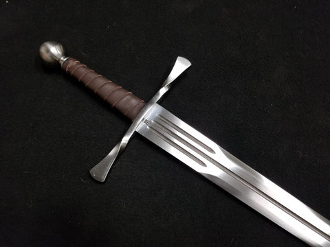BKS Arming Sword w/ Bowtie Guard & Triple Fuller