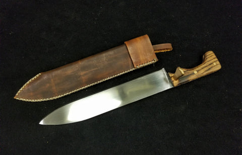 Custom - German Fighting Knife w/ Brown Sheath