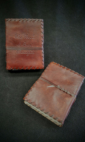 "Medium ""The Book Of Good Thoughts"" Leather Book"