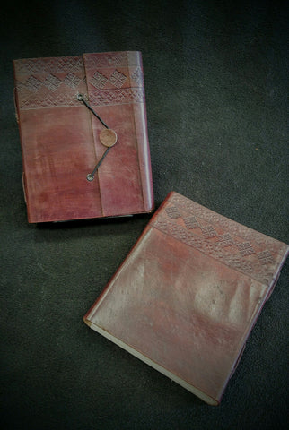 Large Elastic Closure Leather Book
